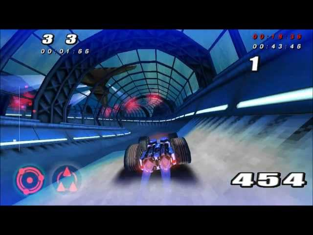 Rollcage Stage II Harpoon All Tracks Master Unity Genesis III Gameplay