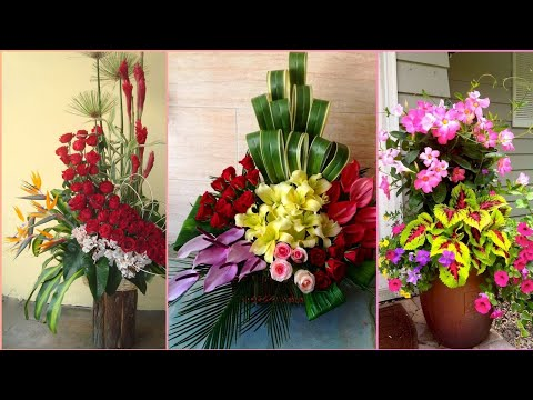 Beautiful and adorable flower decoration designs for home deco