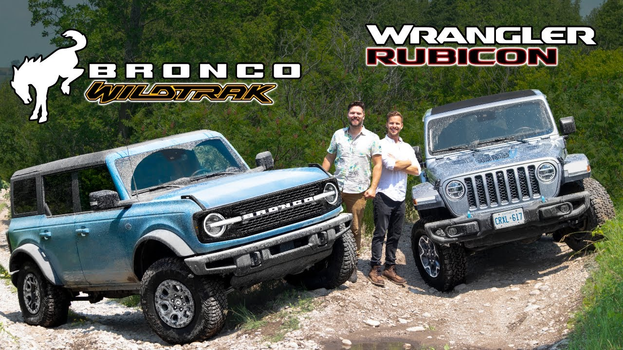 2021 Ford Bronco Wildtrak vs Jeep Wrangler Rubicon // OFF-ROAD TEST