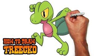 How to Draw Treecko | Pokemon