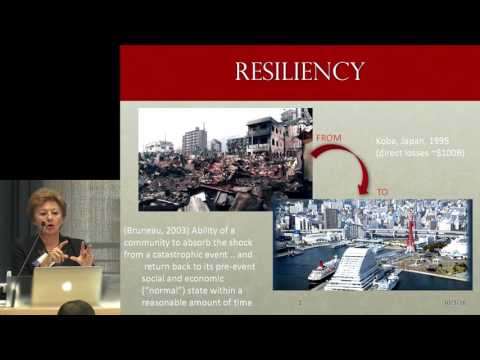 Anne Kiremidjian: A resilient city is a sustainable city