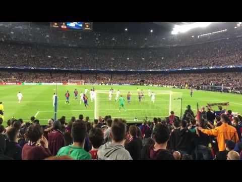 BARÇA - PSG: goal de Sergi Roberto desde la grada.
