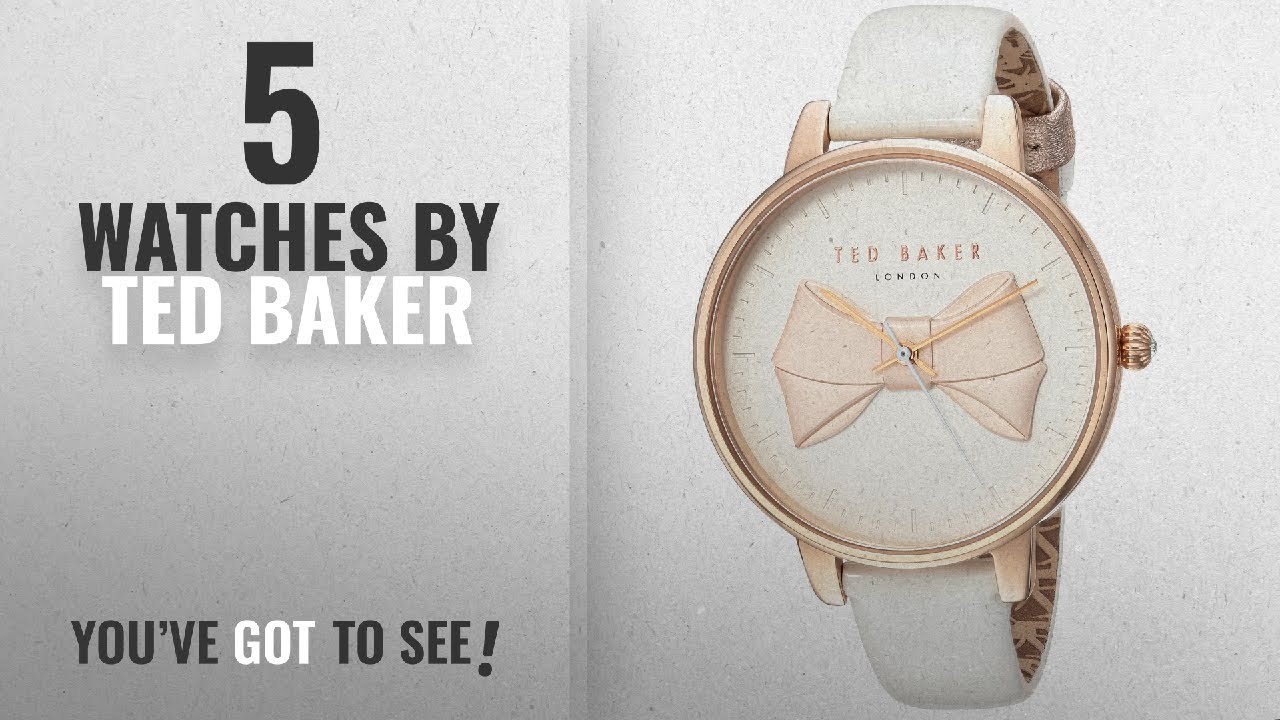 74eecbf28 Top 10 Ted Baker Watches  2018   Ted Baker Women s  BROOK  Quartz Stainless  Steel and Leather Casual