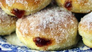 Pączki - Polish Jelly Donuts - Oven Baked Doughnuts