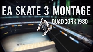 EA SKATE 3: WORLD FIRST QUAD CORK 1980? - Mega Ramp Montage (Quads,Triples and more)