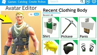 MAKING FORTNITE A ROBLOX ACCOUNT!