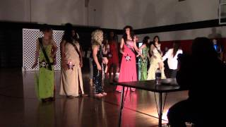 Crowning Dude Looks Lady And Her Court Project Graduation Womanless Beauty Pageant