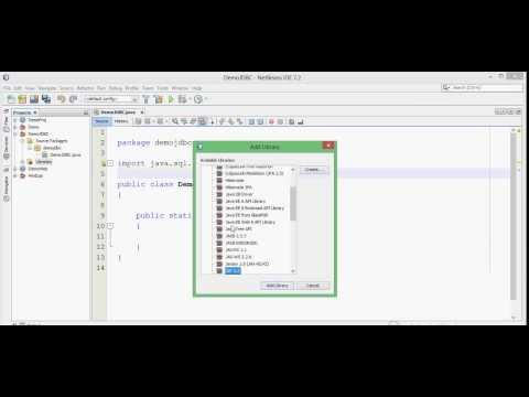 Java Database Connectivity (JDBC) Practical Tutorial (Lecture) on Netbeans