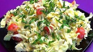 Прекрасный салат из капусты без уксуса и майонеза