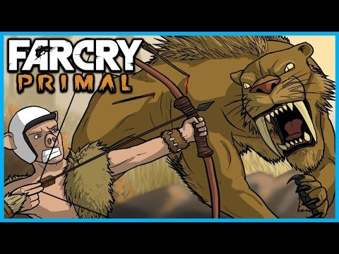 Far Cry Primal Funny Moments Gameplay #5 - Taming A Sabre Tooth Tiger and Brown Bear!