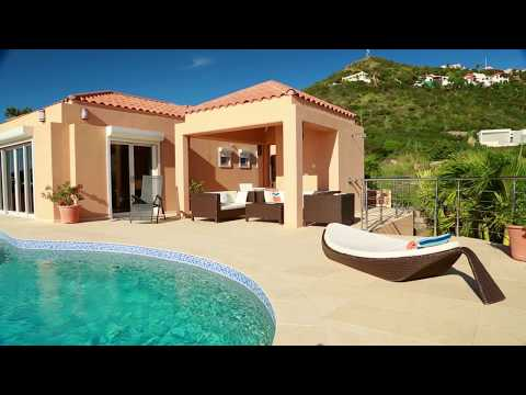 SUMMERWINDS VILLA...hillside, stunning ocean views in Oyster Pond, St Maarten