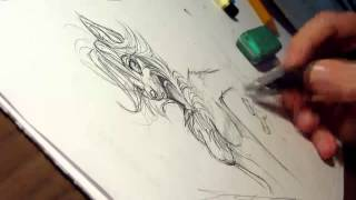 sketching furry - timelapse