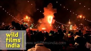 Effigies of Ravan, Meghnad and Kumbhkara burn to ashes