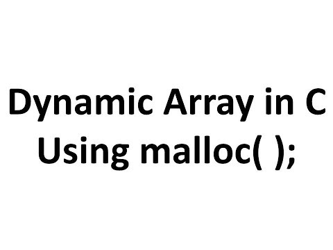 Introduction to Dynamic Memory Allocation in C,creating a Dynamic Array using malloc( ).