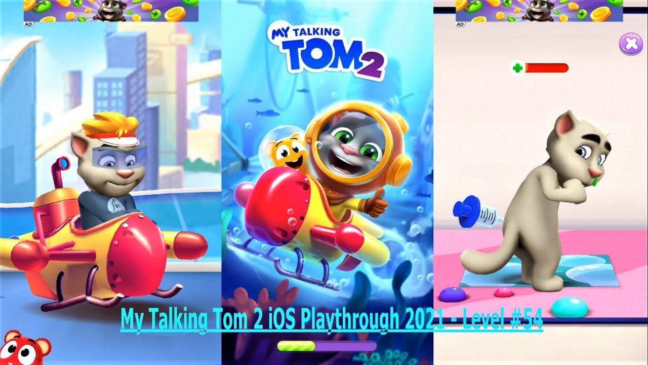 My Talking Tom 2 iOS Playthrough 2021 - Level #54
