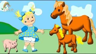 Масипуня. Обучающий развивающий мультфильм. Домашние животные и их дети.