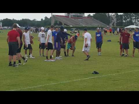 Brandon Harris coaching at Manning Passing Academy