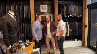 Sem de Wit and Paddy Barrett at Hellman Clothiers