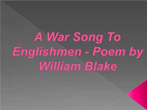william blake a war song to englishmen