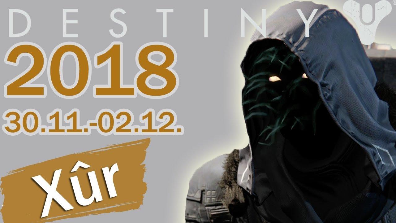 Destiny Xur Position Vom 30 November Bis 2 Dezember 2018