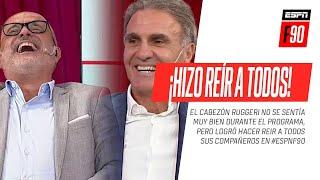 ¡Imperdible! A pesar de sentirse mal, el Cabezón #Ruggeri ¡HIZO REÍR A TODOS! en #ESPNF90