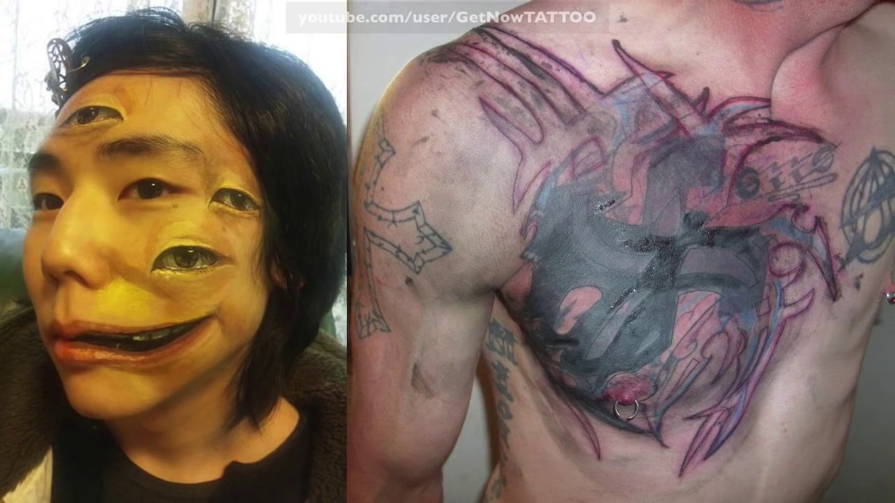 Horror tattoo 80 people that got the worst tattoos ever for Bad tattoos worst of the worst