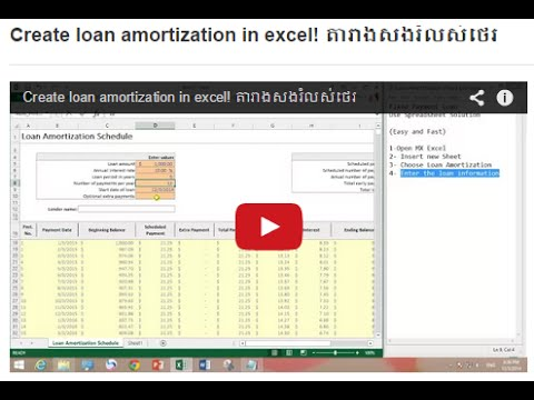 Create Loan Amortization In Excel