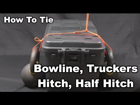How To Tie down anything- Bowline, Truckers Hitch, Half Hitch | Saltwater Experience