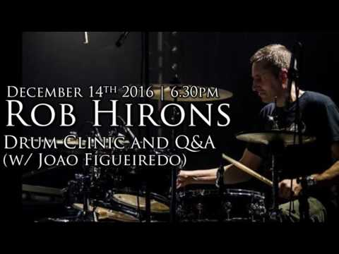 Rob Hirons | Drum Clinic