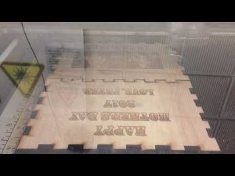 Laser cutting Mother's Day gift box