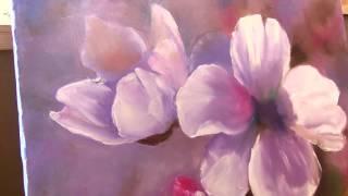 Флоксы   Как рисовать цветы маслом легко и быстро  Александр Южаков