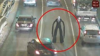 9 مشاهد ظهور رجل طويل حقيقية صورتها عدسات الكاميرا !!
