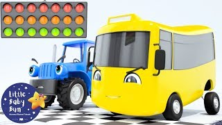 Buster's Big Race - Go Buster the Yellow Bus | 20 min of Nursery Rhymes & Cartoons | LBB Kids