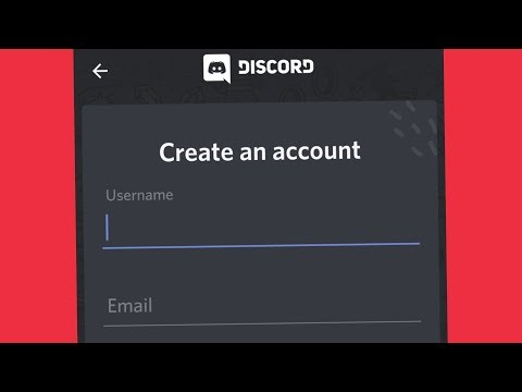 Discord Create An Account in Android