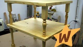 Деревянный стол с ножками из балясин.(Друг подкинул задачку в виде клочка бумаги с чертежом и четыре балясины. На выходе должен был получится..., 2017-01-23T06:06:20.000Z)