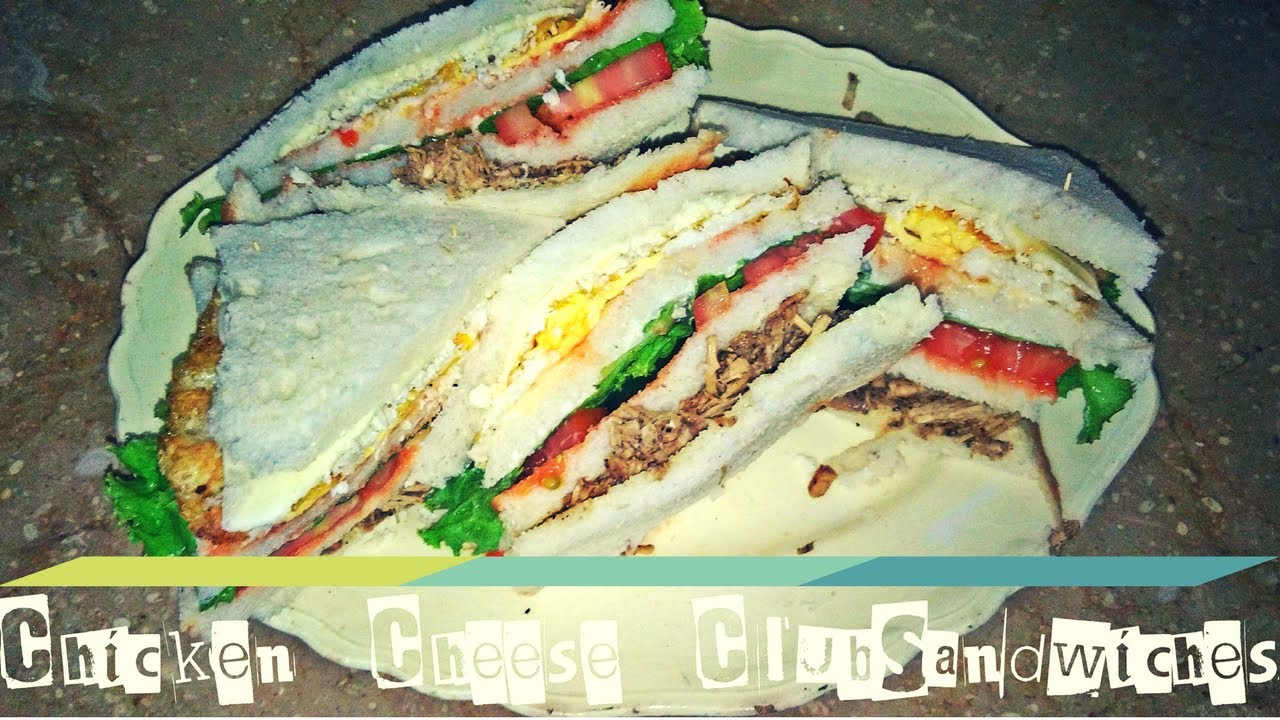 Chicken Cheese Clubsandwich Recipe In Urdu Hindi With English Subtitles Directions