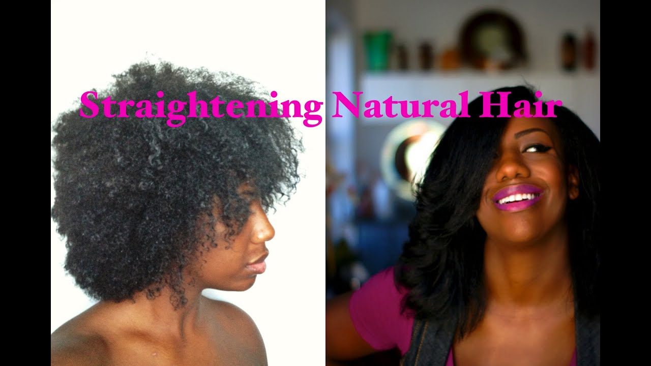 How to Straighten Natural Hair The Wash Blow Dry Flat Iron