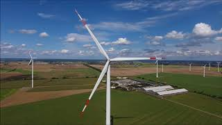 Nordex N117 / 2400 wind turbine from the air, 9/2016