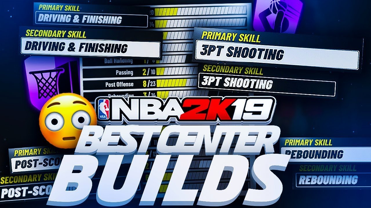 NBA 2K19 TOP 5 BEST CENTER BUILDS - ARE POWER FORWARDS