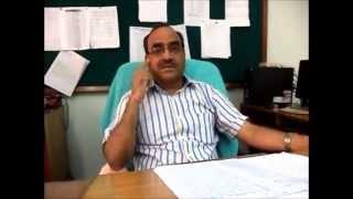 Mr. A K Singh, Principal, JVM Shyamli giving message for students of class 10th