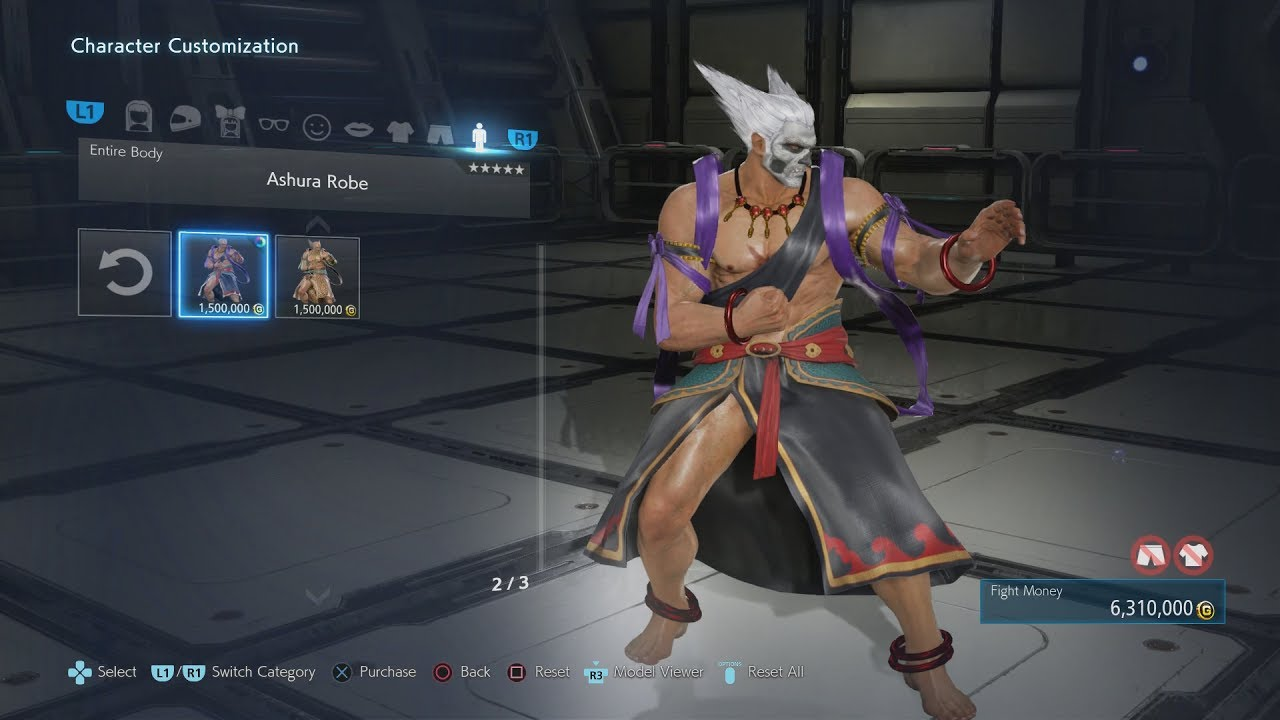 Tekken 7 Heihachi Customization Mode Ps4pro Youtube
