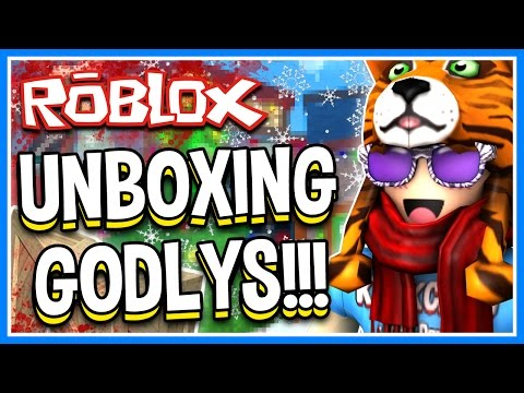 HUGE GODLY KNIFE BOX UNBOXING + CRAFTING!!! | ROBLOX Murder Mystery 2 | CHRISTMAS UPDATE