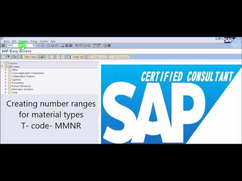 SAP MM - Create Material Type And Assigning Number Range