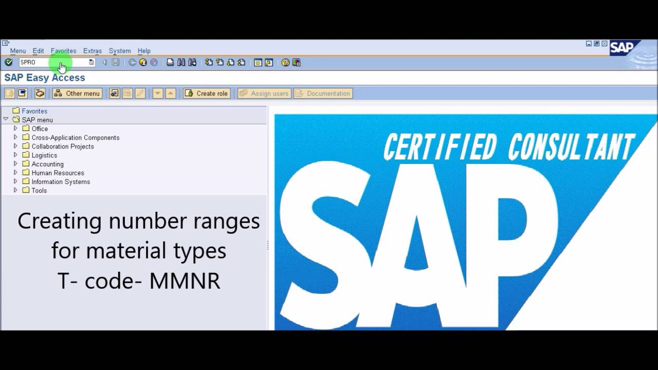 Sap mm create material type and assigning number range youtube sap mm create material type and assigning number range xflitez Image collections