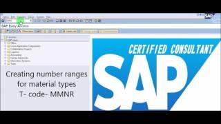 SAP MM - Malzeme türü Oluşturma ve atama sayısı aralığı