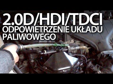 Odpowietrzenie Układu Paliwowego Volvo 2.0D Ford 2.0TDCi Peugeot 2.0HDi Citroen 136PS