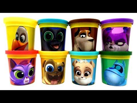 Puppy Dog Pals Play-Doh Can Heads Jonathan Cupcake Rolly Hissy Bingo A.R.F. Bulworth Keia