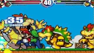 Super Mario & Super Luigi vs Team Bowser MUGEN Battle!!!