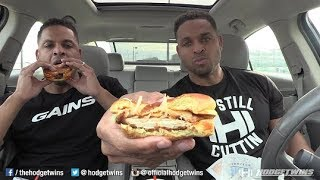 Eating BURGER KING® Crispy Buffalo Chicken Melt @hodgetwins