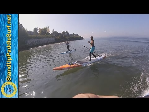 SUP Surfing Freighter Waves in Seattle